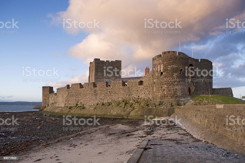 Side view of (No Suggestions) castle stock photo