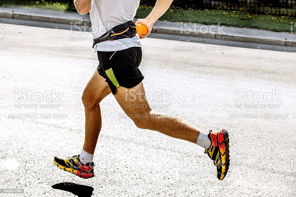 side view of foot men athlete royalty-free 스톡 사진