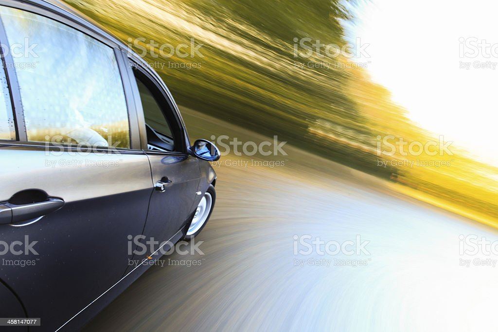 Side view of luxury car. royalty-free stock photo