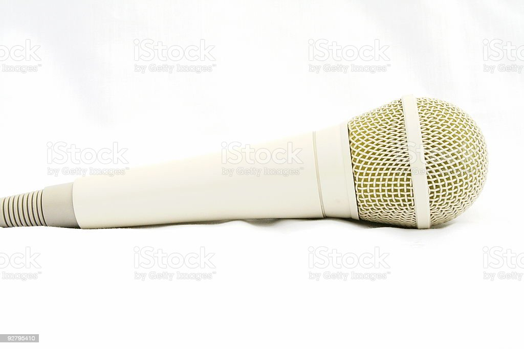 Side view of microphone royalty-free stock photo
