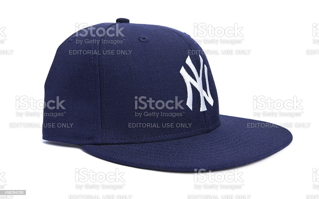 Side View of New York Yankees Ball Cap royalty-free stock photo