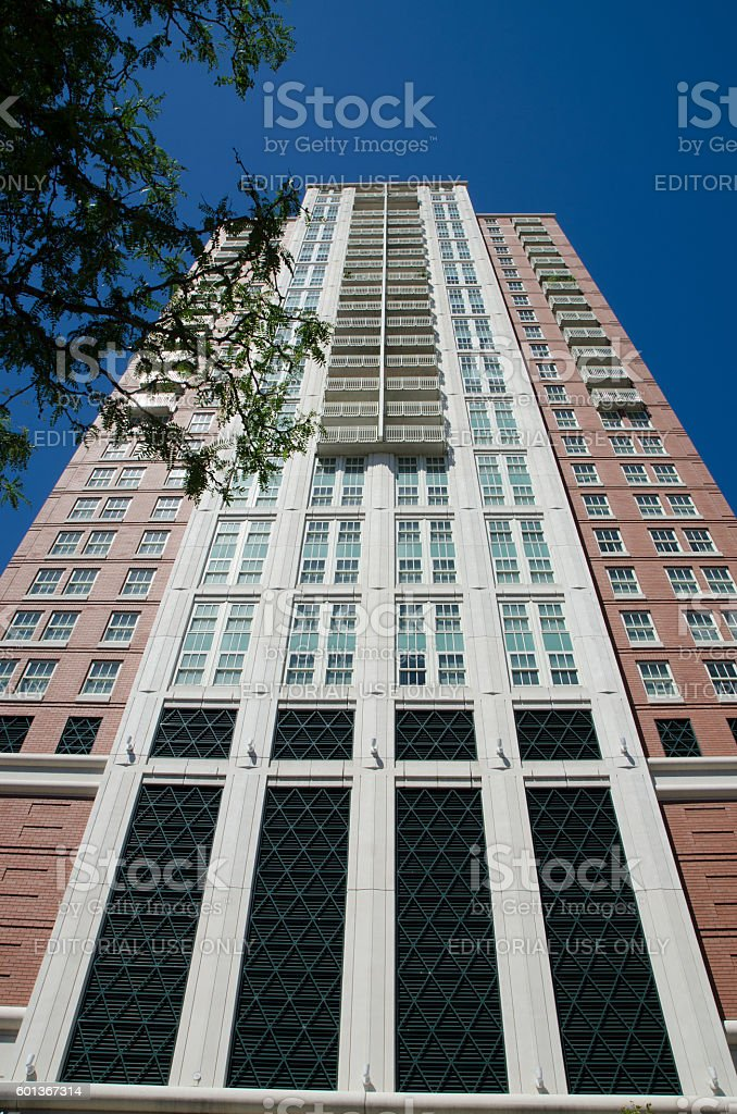 Side view of OMNI hotel in Providence, Rhode Island stock photo