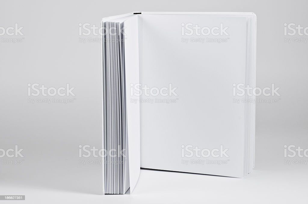 side view of open book royalty-free stock photo