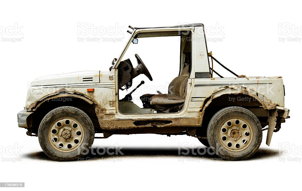 Side view of rustic off-road vehicle stock photo