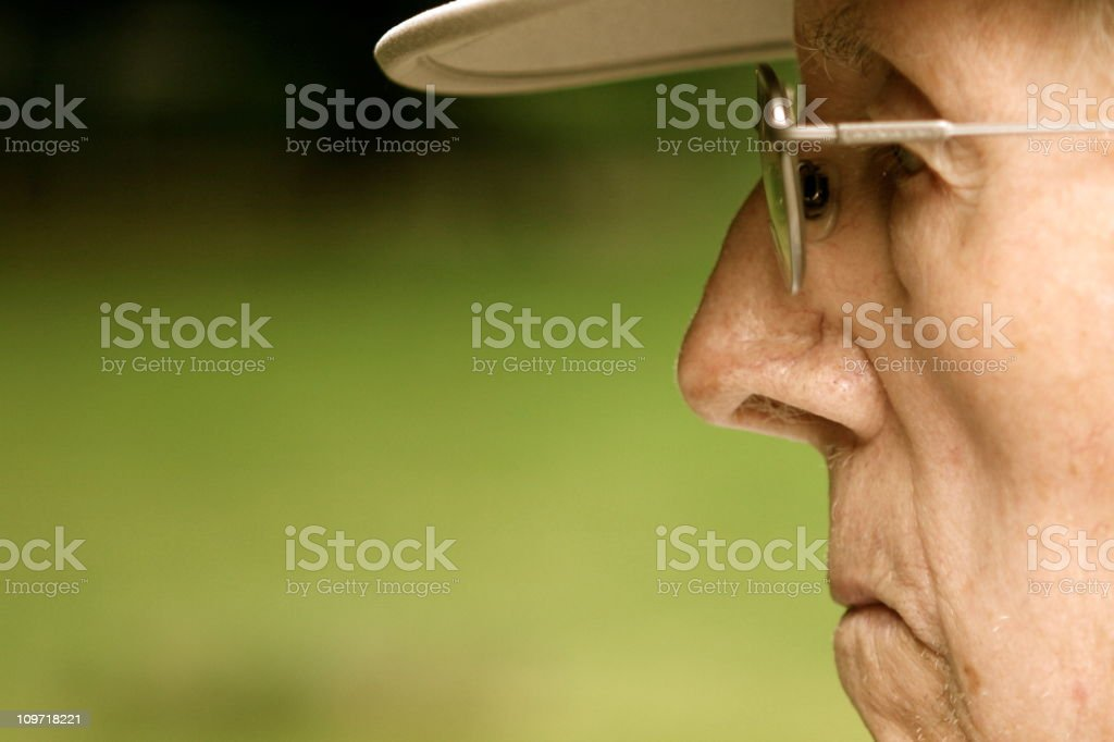 Side View of Senior Man stock photo