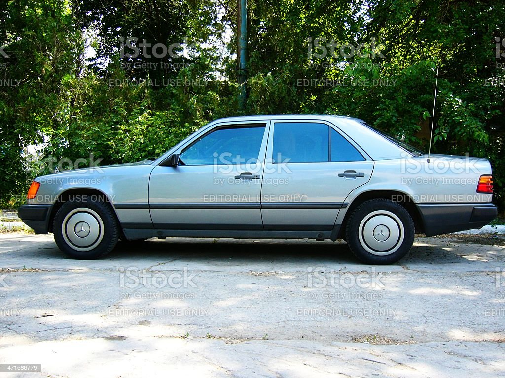 Side view of the Mercedes Benz 260E (W124) royalty-free stock photo