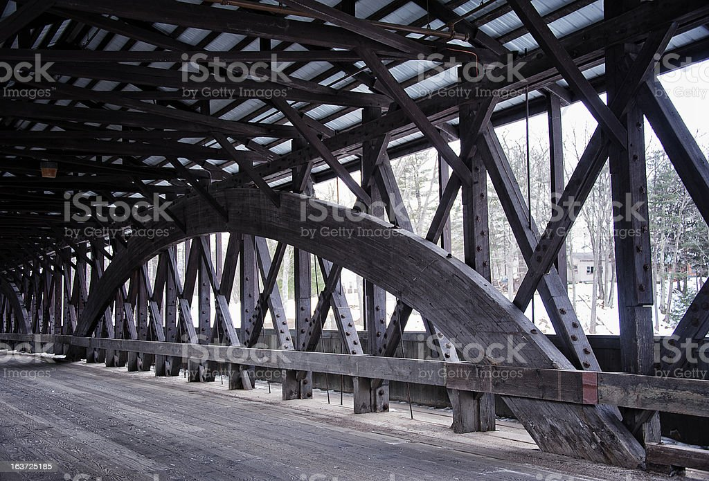 Side view of wooden bridge royalty-free stock photo