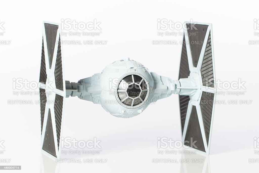 side view tie fighter stock photo