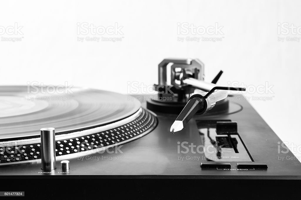 Side view Turntable stock photo