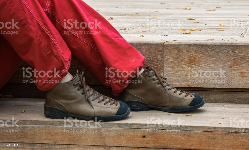 Side view Woman's Legs close up stock photo