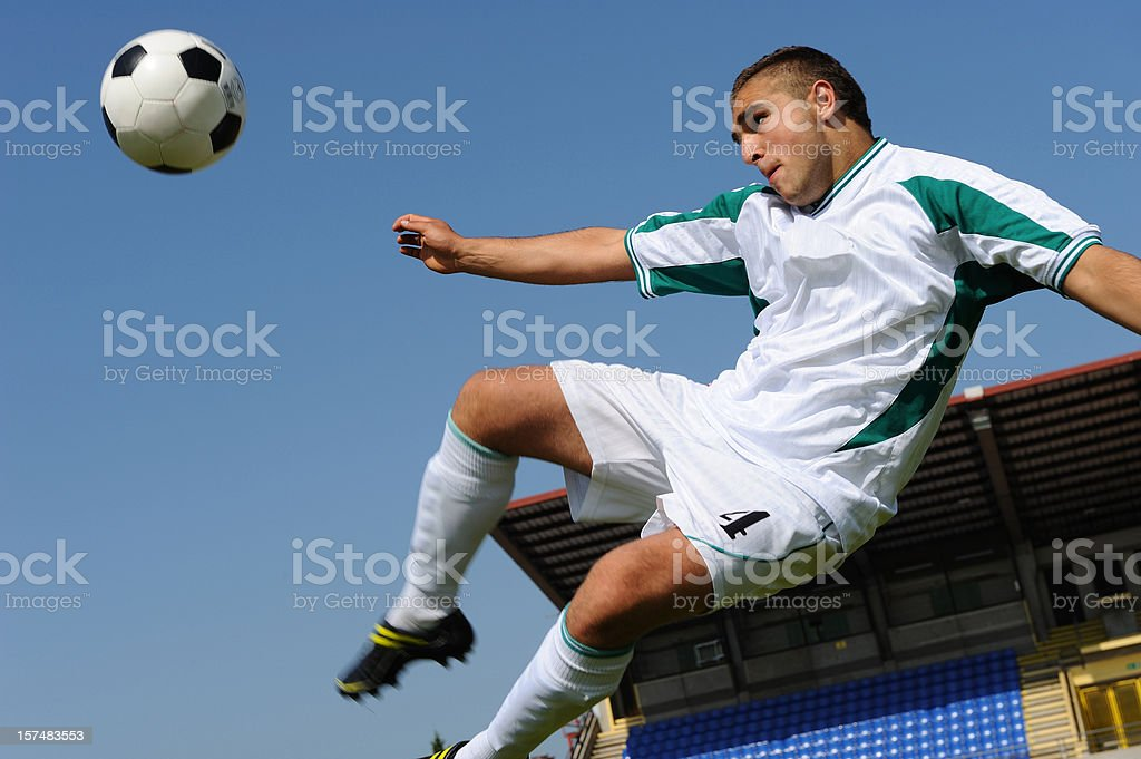 Side volley kick royalty-free stock photo