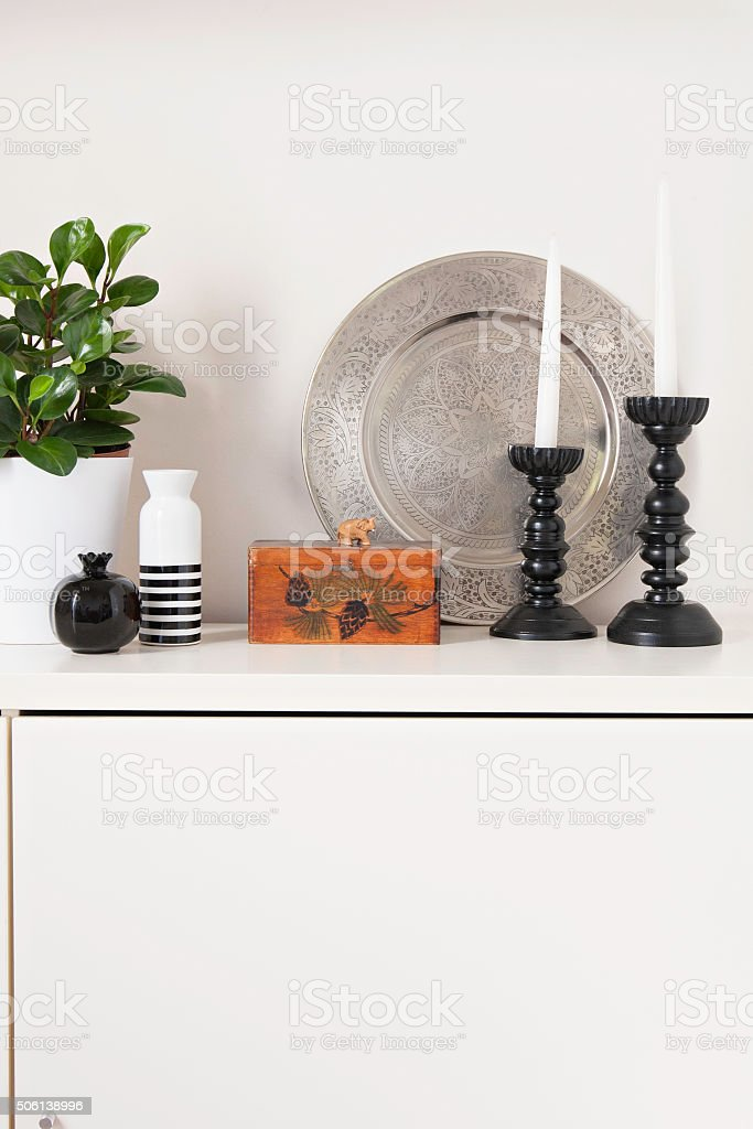 Sideboard top nordic styling decoration stock photo