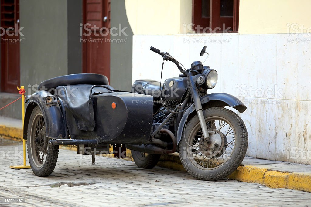 Sidecar on the Street stock photo