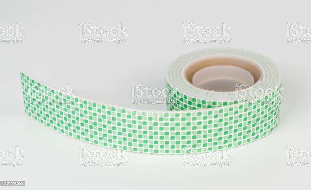2 Sided sticky tape isolated on white background stock photo