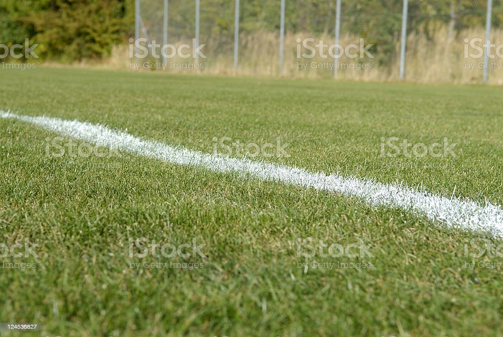 Sideline of a playing field royalty-free stock photo