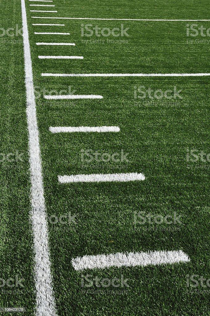 Sideline of an American Football field stock photo