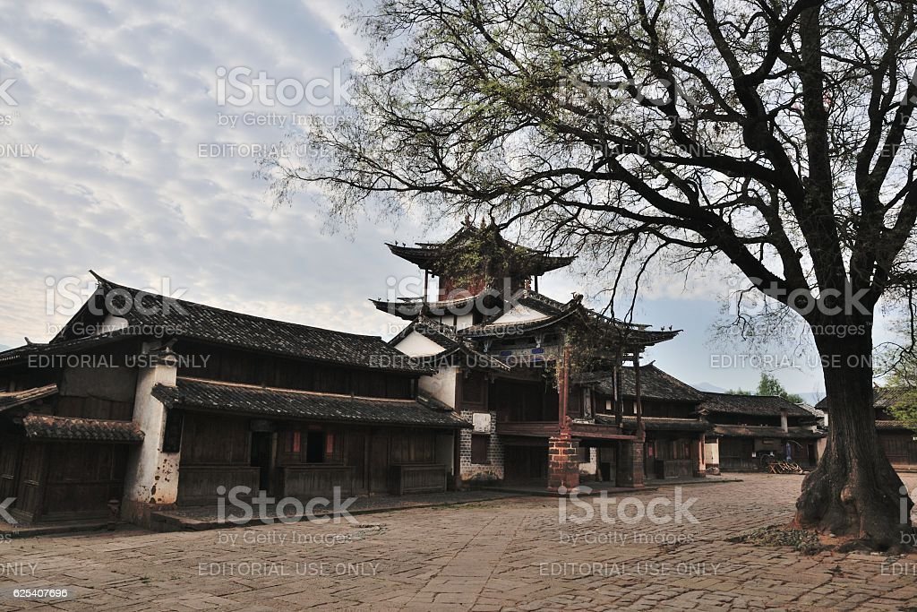 Sideng Theatre, Shaxi Old Town stock photo