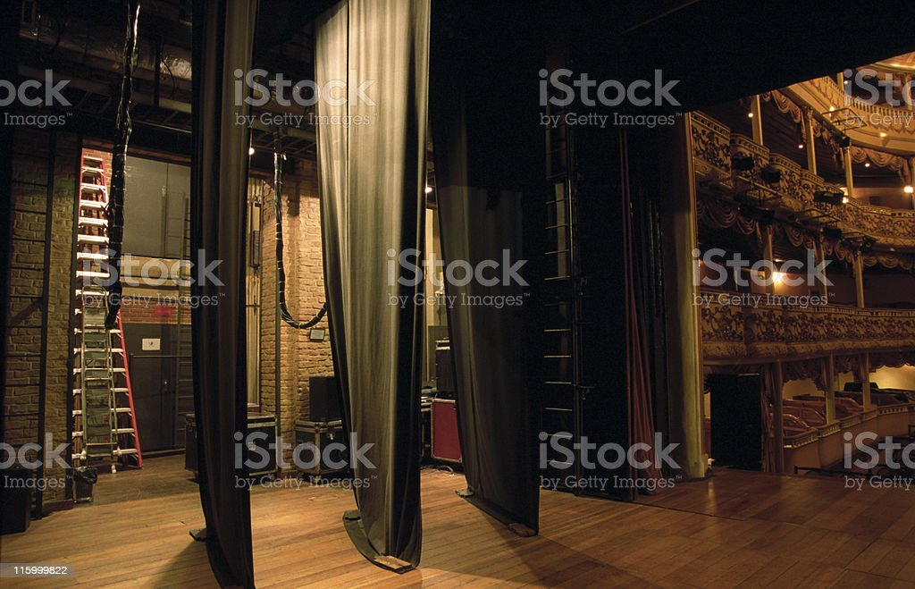 Side-scenes of a classical theatre stock photo