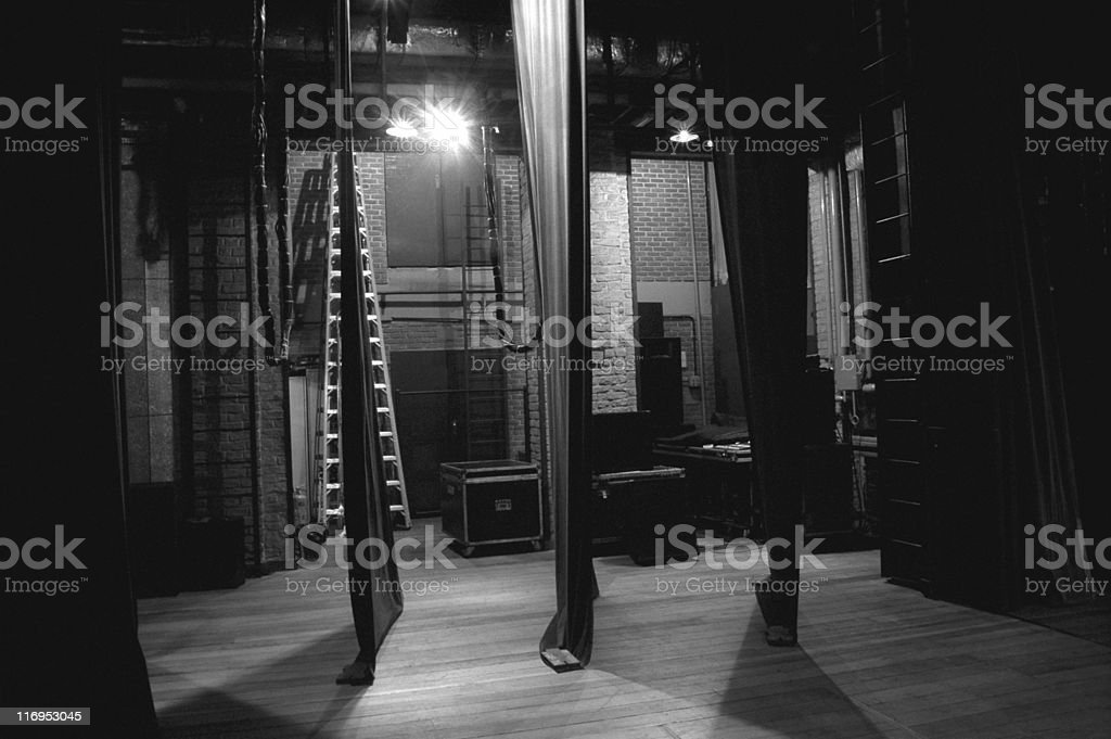 Side-scenes of a classical theatre stock photo