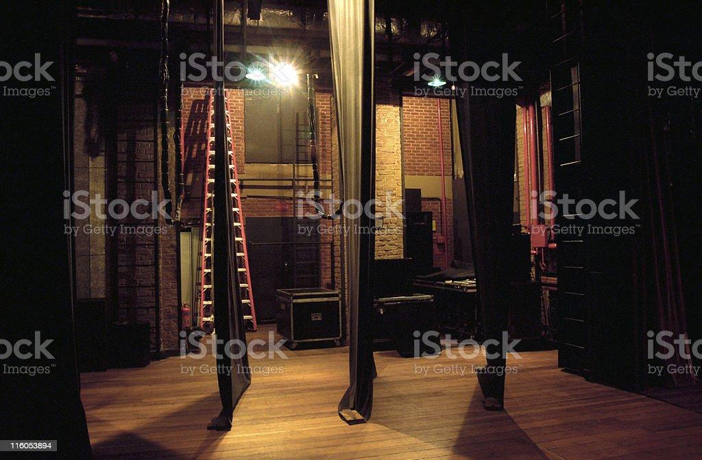 Side-scenes of a theatre stock photo