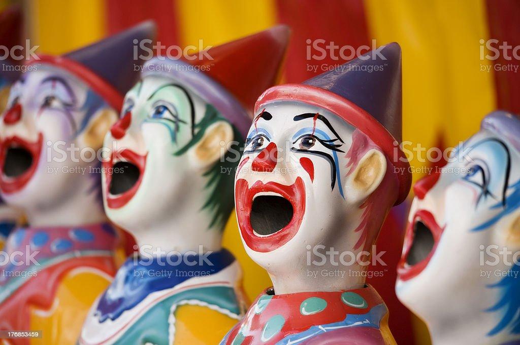 sideshow clowns stock photo