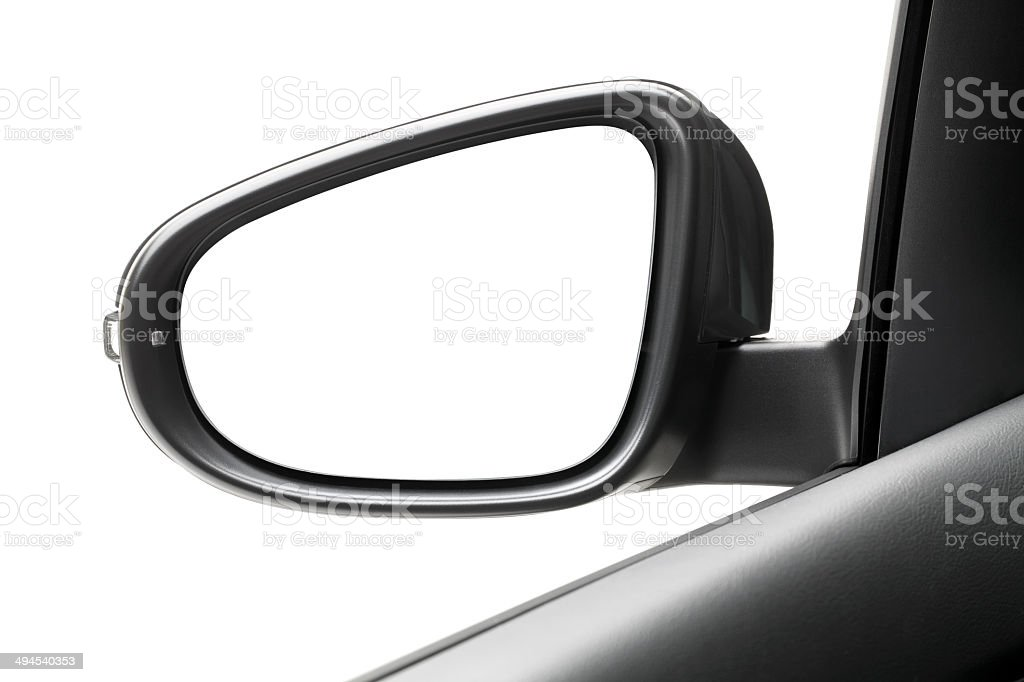 Side-View mirror stock photo