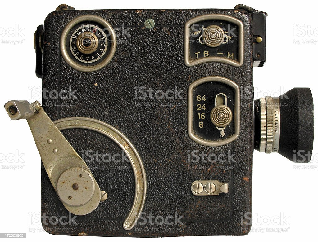 sideview of 16 mm film camera royalty-free stock photo