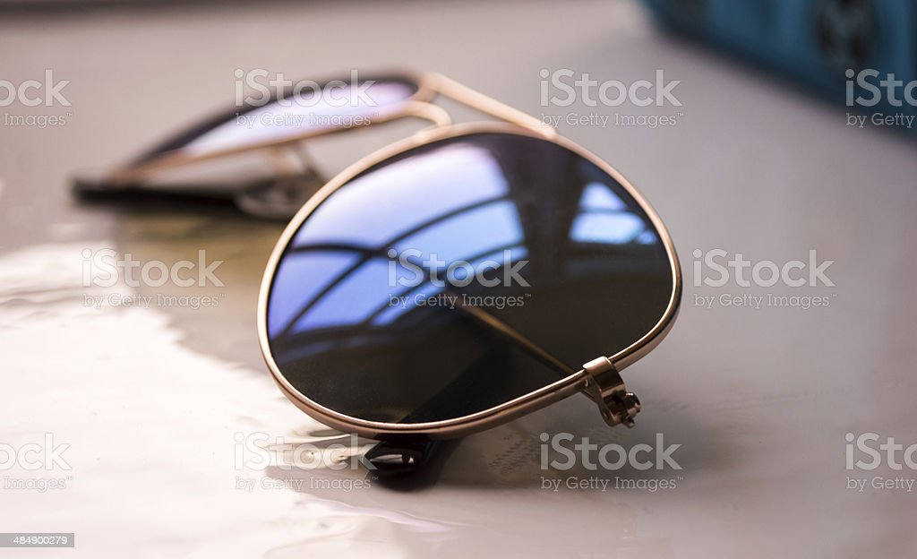 Side-view of Aviator Sunglasses royalty-free stock photo