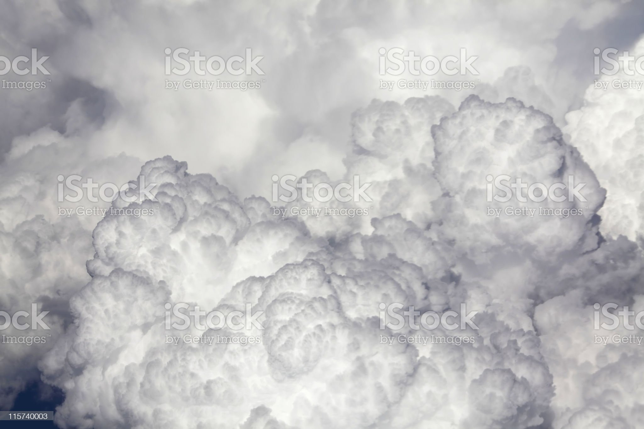 Sideview of human face portayed by clouds royalty-free stock photo