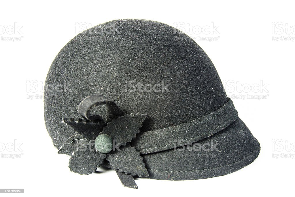 sideview riding helmet isolated stock photo
