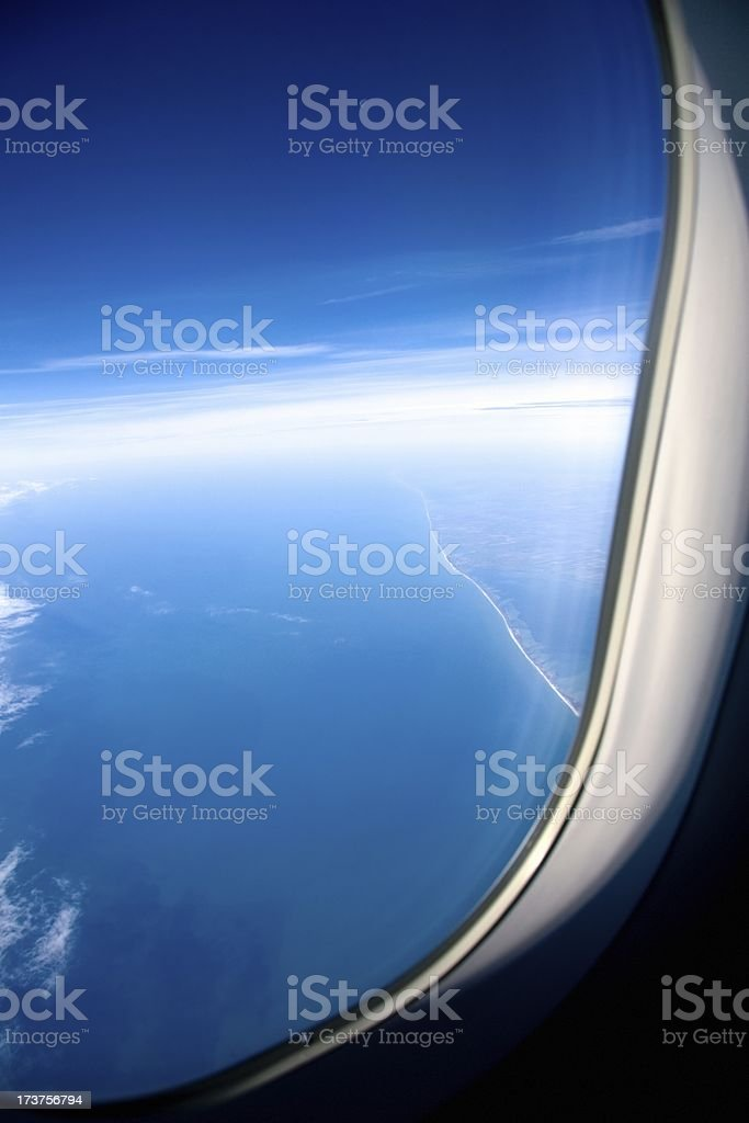 Side-viewing window royalty-free stock photo