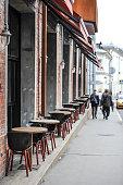 Sidewalk Cafe in Moscow