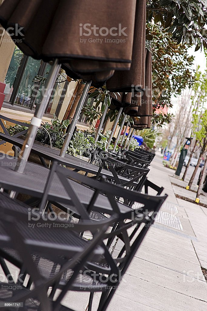 sidewalk cafe royalty-free stock photo