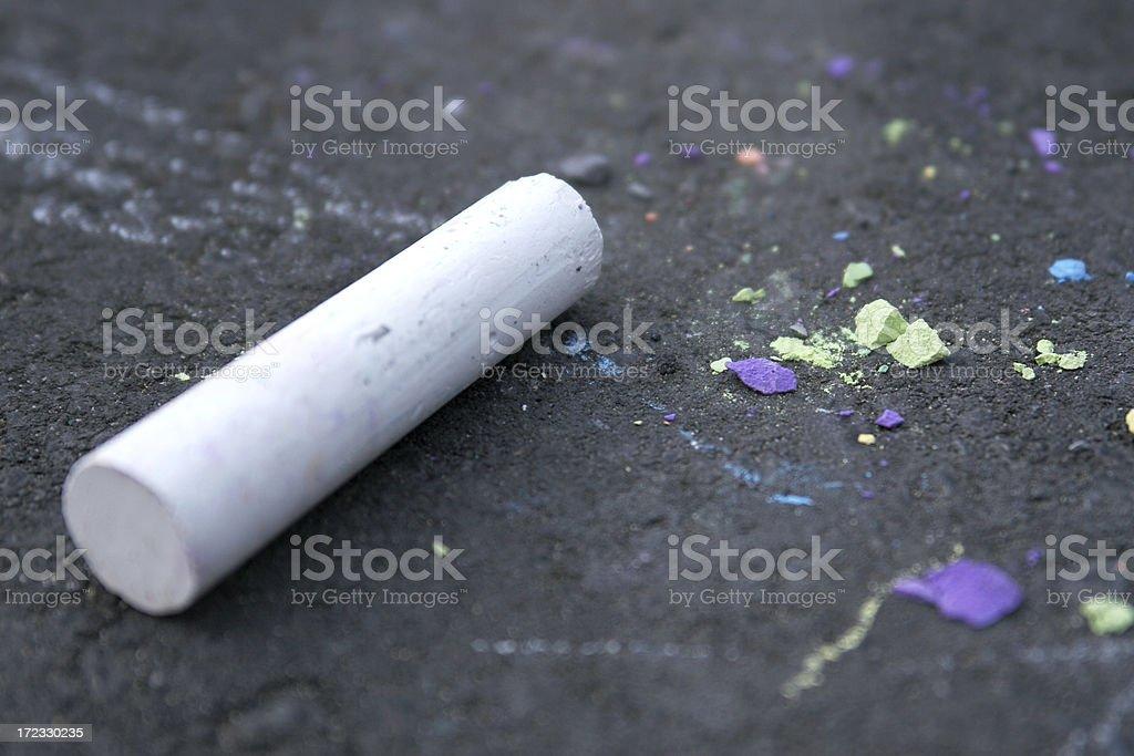 sidewalk chalk 3 royalty-free stock photo
