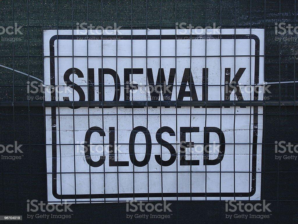 Sidewalk Closed royalty-free stock photo