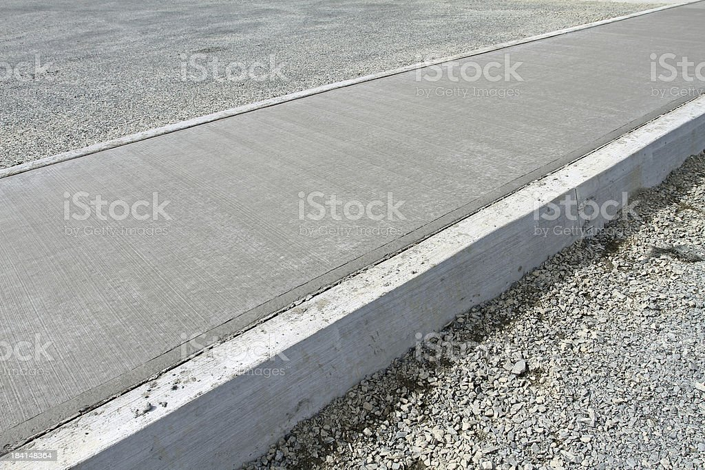 Sidewalk Construction stock photo