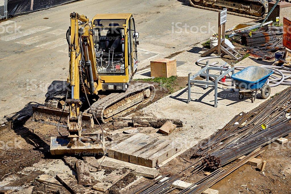Sidewalk construction stock photo
