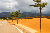 Sidewalk cover in sand