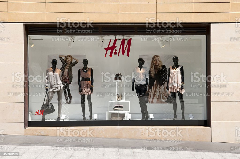 H&M display window in Beirut, Lebanon stock photo