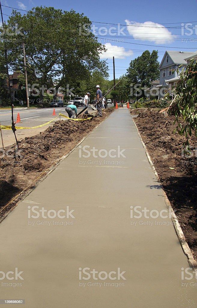 Sidewalk Improvement royalty-free stock photo