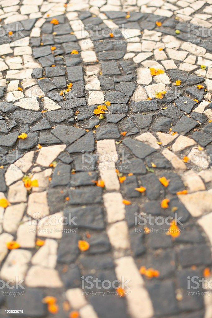 Sidewalk in Portugal royalty-free stock photo