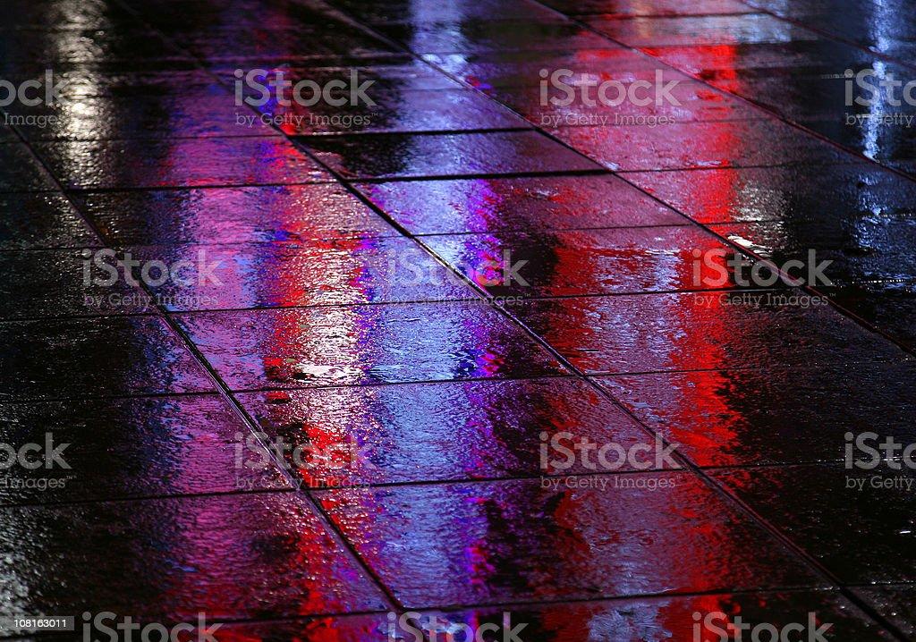 Sidewalk In The Rain royalty-free stock photo