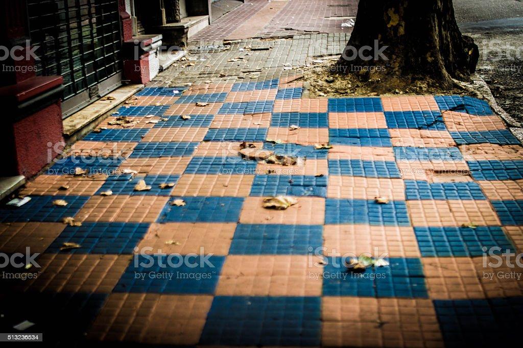 Sidewalk in Uruguay stock photo