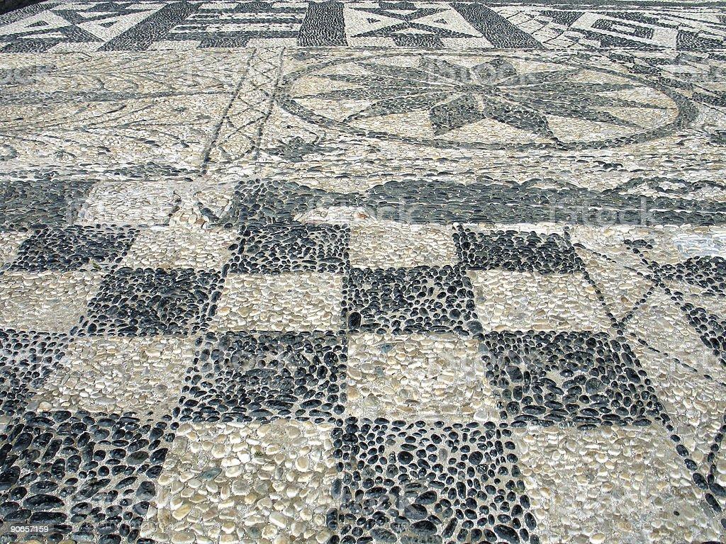 Sidewalk Mosaic stock photo