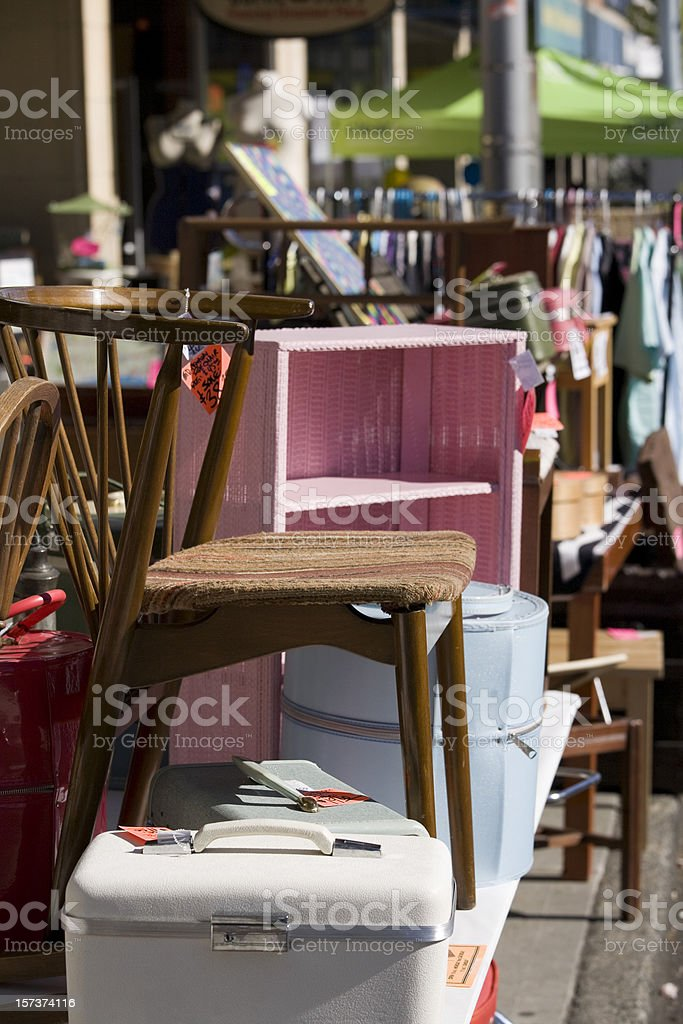 Sidewalk or Garage Sale royalty-free stock photo