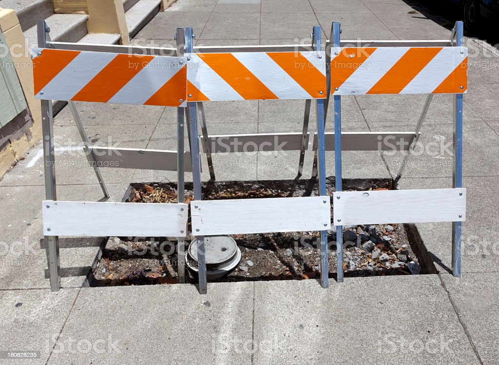 Sidewalk Repair royalty-free stock photo