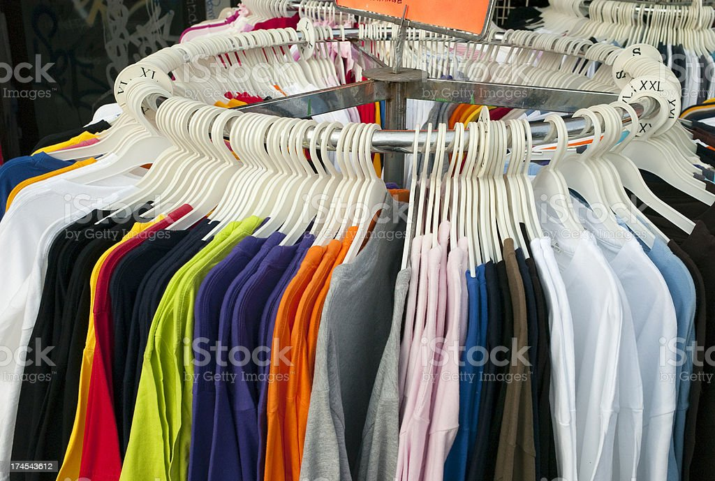 Sidewalk sale royalty-free stock photo