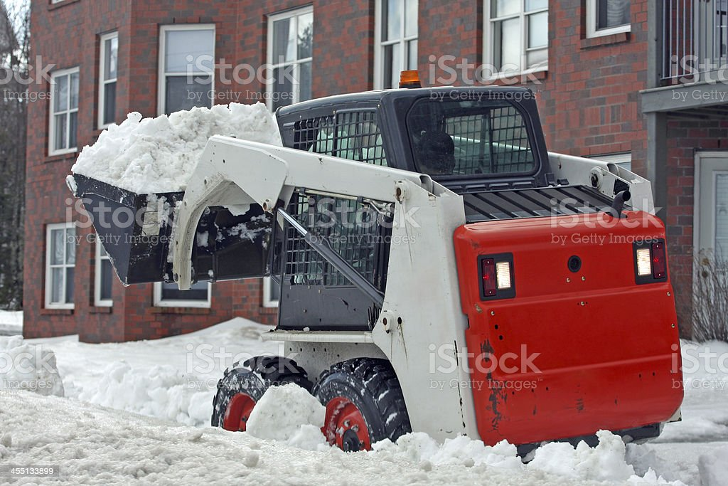 Sidewalk Snow Removal stock photo