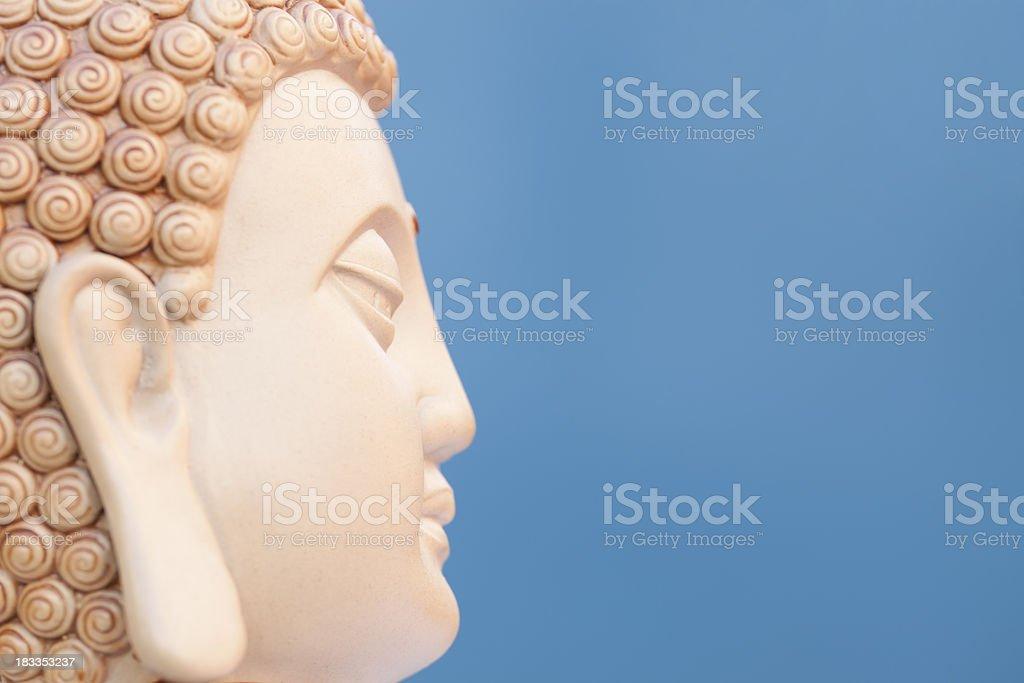 sidewise portait of buddha stock photo