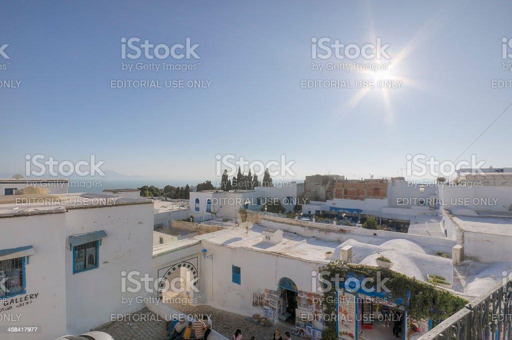 Sidi Bou Said in Tunisia stock photo